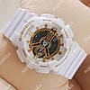 Стильные спортивные наручные часы Casio GA-110 White/Gold 634