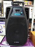 Колонка акумуляторна з мікрофоном ZPX ZX-7766 200W (Bluetooth/USB/FM/TWS), фото 3