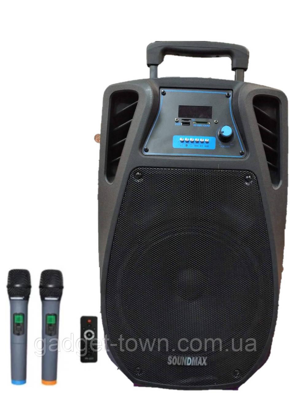Колонка акумуляторна з мікрофоном ZPX ZX-7766 200W (Bluetooth/USB/FM/TWS)