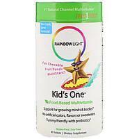 Мультивитамины на основе пищевых продуктов, фруктовый пунш, Kid's One, Rainbow Light, 90 жевательных таблеток