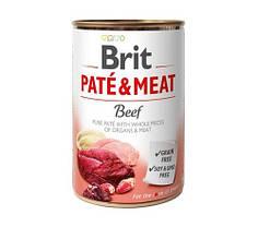 Консервы для собак Brit Pate & Meat  Beef (с говядиной) 400 г
