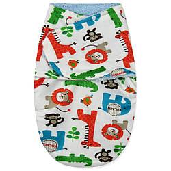 Флисовая пеленка - кокон на липучках Малыши звери Berni Kids