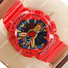 Красочные спортивные наручные часы Casio GA-110 Red/Blue/Yellow 635