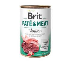 Консервы для собак Brit Pate & Meat Venison (с олениной) 400 г