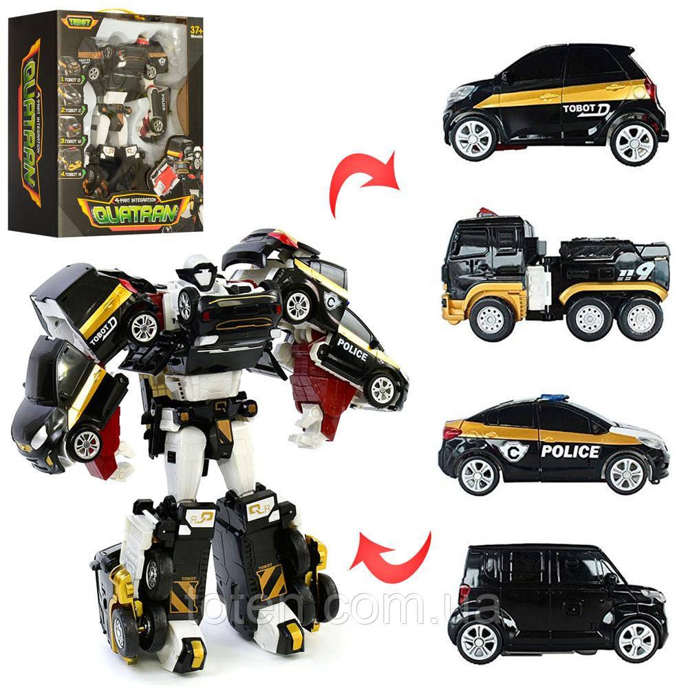 Игрушка Тобот робот-Трансформер Кватран 33 см  робот+машинка 4 шт,  508