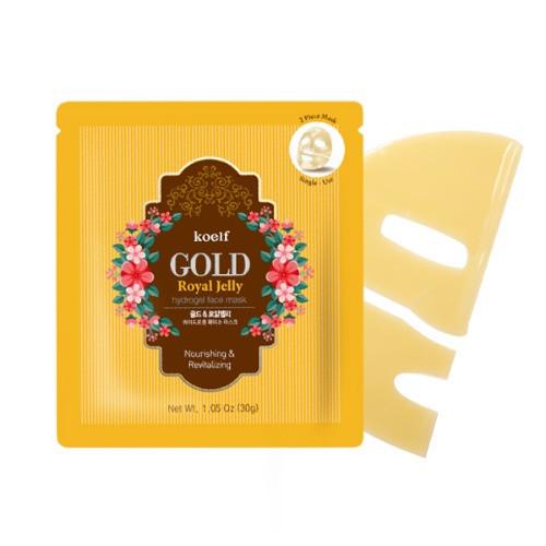 Гидрогелевая маска для лица с золотом KOELF Gold & Royal Jelly Mask (Уценка: дефект упаковки)