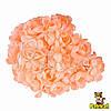Камелия цветок персиковый на стебельке 1,5 см диаметр 10 шт/уп
