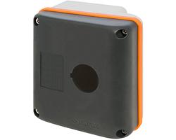 Корпус New Elfin 90x90 с отверстием 1хØ22 мм, термопластик; ne080E90-P1