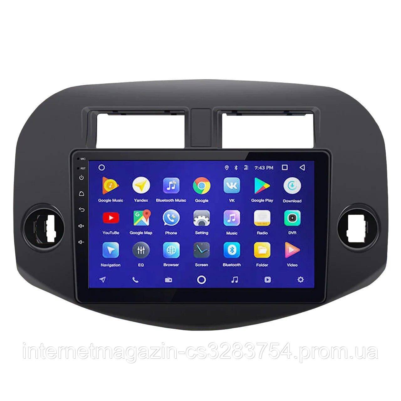 Магнитола штатная 10 дюймов Toyota RAV4 45 Вт 1+16 ГБ GPS USB-DVR Hands Free Bluetooth (4003-11396)