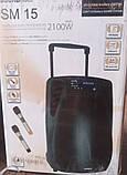 Колонка аккумуляторная с радиомикрофонами TMG ORIGINAL Soundmax SM-15 (Bluetooth/USB/SD), фото 5