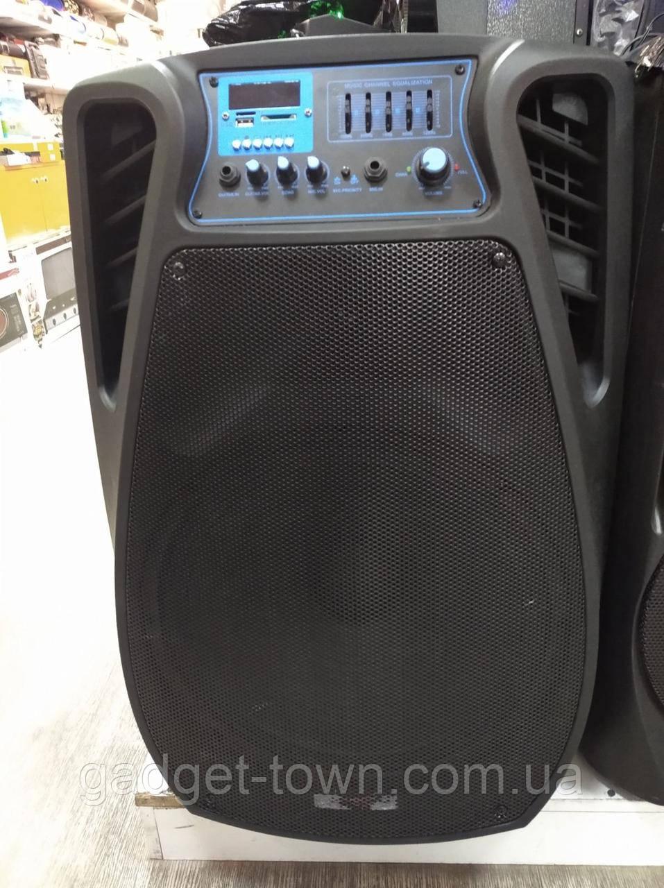 Колонка аккумуляторная с радиомикрофонами TMG ORIGINAL Soundmax SM-15 (Bluetooth/USB/SD)
