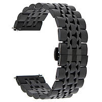 Ремешок BeWatch classic стальной Link Xtra для Samsung Galaxy Watch 46 мм Black (1021401), фото 1