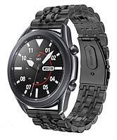 Браслет BeWatch для Samsung Galaxy Watch 3 45 mm classic Link Xtra стальной 22мм Black (1021401.11), фото 1