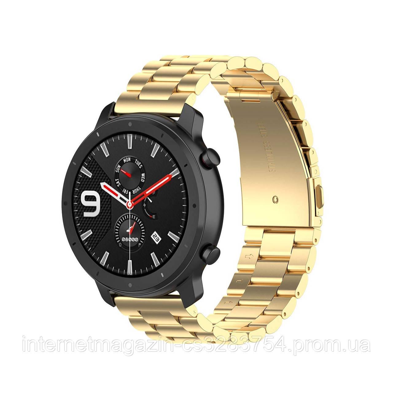 Ремешок BeWatch 20 мм стальной браслет для Samsung Galaxy Watch 42   Galaxy Watch 3 41мм Gold (1110428)
