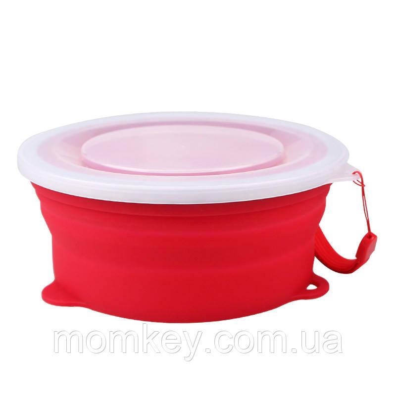 Тарелка 800 мл (красный)