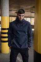 Куртка анорак мужская осенняя серая Softshell Walkman демисезонная весенняя Intruder+Ключница в подарок