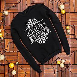 Свитшот - Стильный мужской черный рождественский