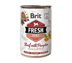 Консервы для собак Brit Fresh Beef/Pumpkin с говядиной и тыквой 400 г