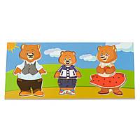 Розвиваючі іграшка - набір ведмедів: правильно одягатися
