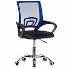 Крісло офісне комп'ютерне з мікросітки Smart робоче для комп'ютера офісу дому, фото 5