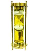 Часы латунные песочные с компасом, 2 цвета (чп-09)