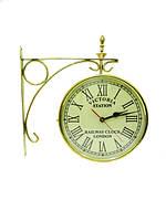 Часы латунные станционные золотые (чл-20)