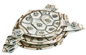 Черепаха балса блюдо раскрашенное (чб-15 чб-16 чб-17)