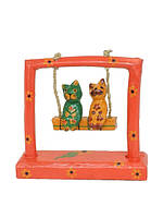 Два кота катаются на качели, 4 цвета (к-177)