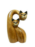 Два кота один нависает над другим (км-44) (Размер: 0,2*0,06*0,11)