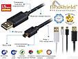 Кабель Promate linkMate-U2 USB-microUSB 1.5 м Black, фото 7