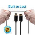 Кабель Promate linkMate-U4 USB-microUSB 1.15 м Black, фото 8