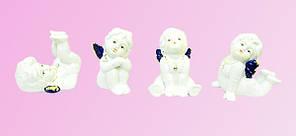 Фарфоровая фигура: набор из 4-х ангелов, 2 цвета (фф-39)