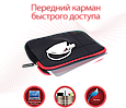 """Чехол для ноутбука Promate Zipper-L 15.6"""" Black, фото 3"""