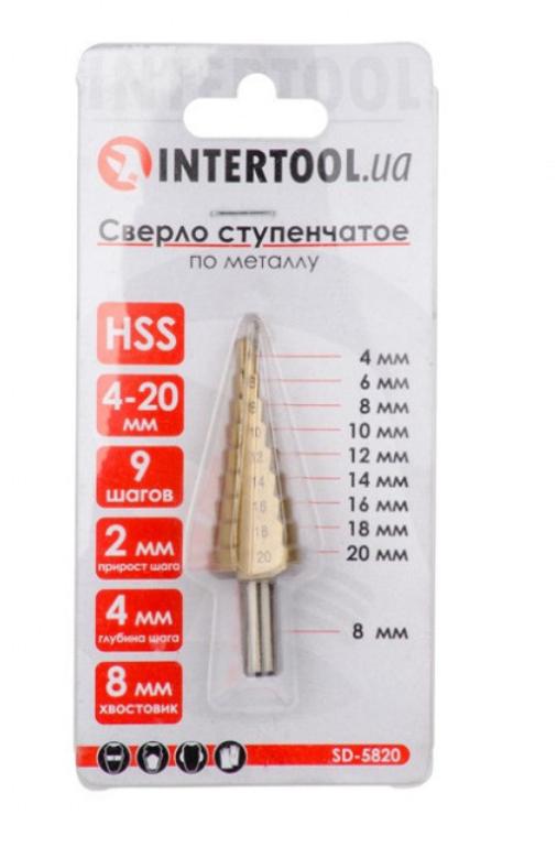 Сверло ступенчатое по металлу Intertool 4-20 мм SD-5820 (KG-911)