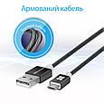 Кабель Promate linkMate-U2M USB-microUSB 1.2 м Black, фото 2