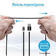 Кабель Promate linkMate-U2M USB-microUSB 1.2 м Black, фото 4