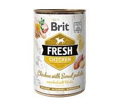 Консервы для собак Brit Fresh Chicken/Sweet Potato с курицей и бататом 400 г