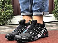 Salomon Speedcross 3 демісезонні чоловічі кросівки в стилі Саломон чорні з сірим