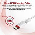 Кабель Promate flexLink-Trio USB - USB Type-C/Apple Lightning/Micro-USB 1.2 м White, фото 3