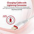 Кабель Promate flexLink-Trio USB - USB Type-C/Apple Lightning/Micro-USB 1.2 м White, фото 6