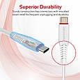 Кабель Promate flexLink-Trio USB - USB Type-C/Apple Lightning/Micro-USB 1.2 м White, фото 8