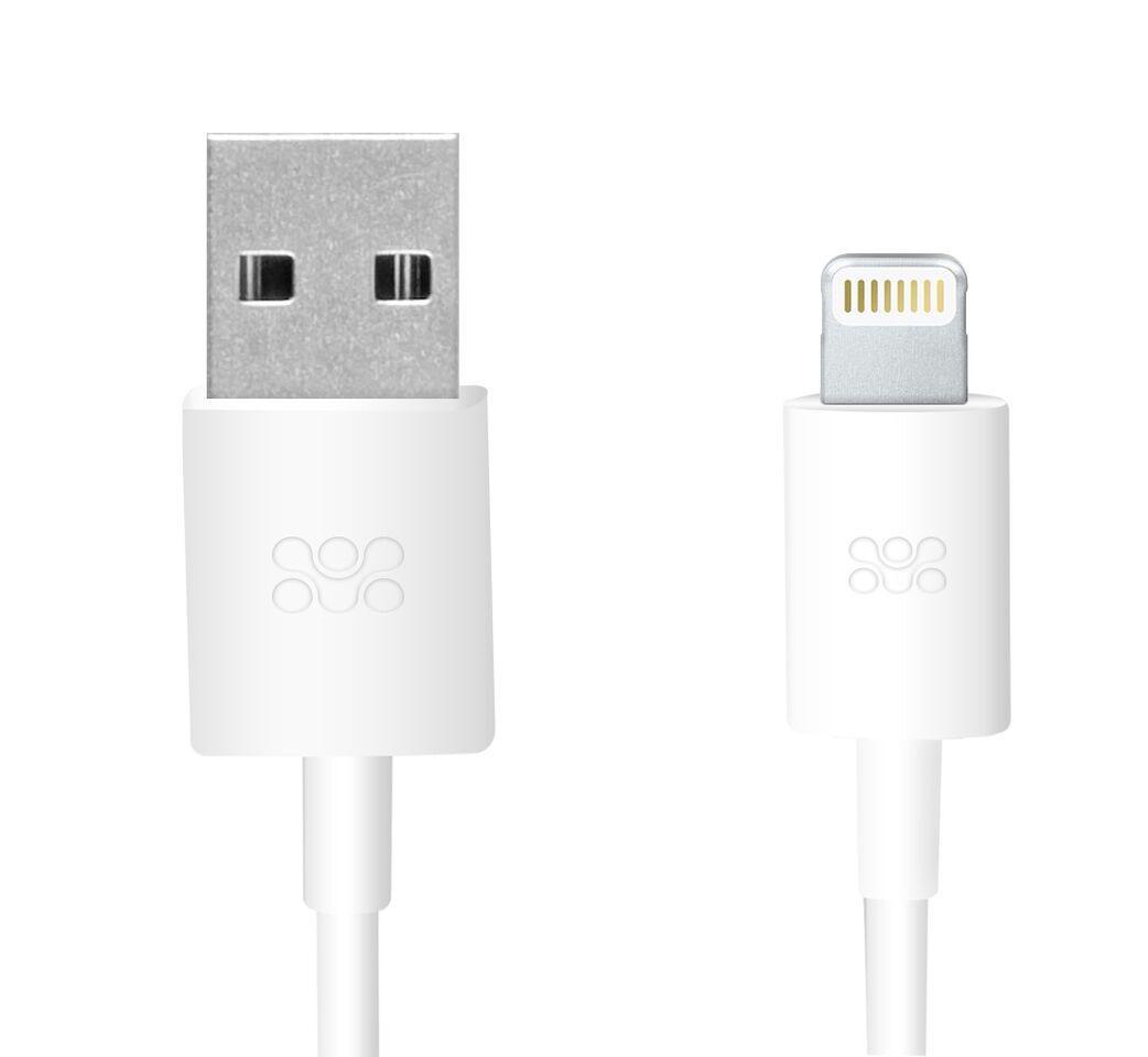 Кабель Promate linkMate-LT Lightning-USB 1.2 м White