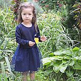 Платье детское нарядное р.104,110,116,122 для праздника (утренника) SmileTime Angel, синее, фото 3