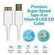 Кабель Promate linkMate-U4 USB-microUSB 1.5 м White, фото 5