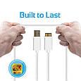Кабель Promate linkMate-U4 USB-microUSB 1.5 м White, фото 7