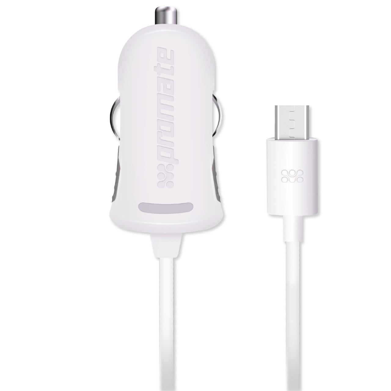 Автомобильное зарядное устройство Promate Procharge-M1 White
