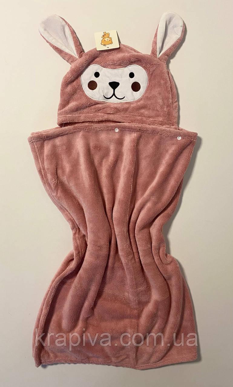Детское полотенце уголком ПРЕМИУМ 140*70см, Плед рушник дитячий з куточком