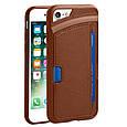 Кожаный защитный чехол для iPhone 7 Promate Wallet-X Brown, фото 7