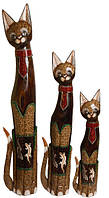 Кот коричневый с галстуком из красного стекла ( к-956, к-957,к-958)