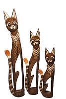 Кот коричневый с отверстием в теле и узором камней на шее ( к-911, к-912, к-913)